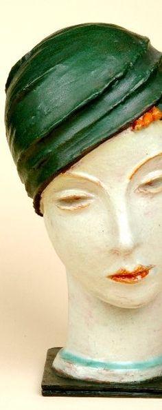 Art Deco Ceramic Sculpture by Marcell Goldscheider