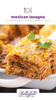 Italian Lasagna, Taco Lasagna, Taco Pie, Mexican Lasagna Recipes, Mexican Dishes, Mexican Lasagna With Tortillas, Mexican Lasagne, Homemade Salisbury Steak, Cooking Recipes