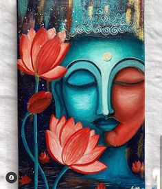 Budha Painting, Love Canvas Painting, Hope Painting, Art Painting Gallery, Oil Painting Abstract, Abstract Pencil Drawings, Oil Pastel Drawings, Buddha Art, Buddha Drawing