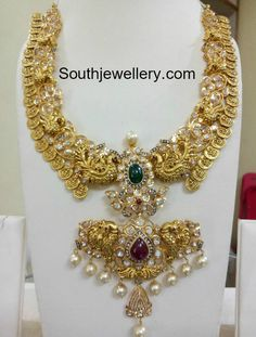 Indian Jewellery Designs - Page 7 of 1784 - Latest Indian Jewellery Designs 2020 ~ 22 Carat Gold Jewellery one gram gold Italian Gold Jewelry, Clean Gold Jewelry, 18k Gold Jewelry, Gold Jewellery Design, Wedding Jewelry, Pandora Jewelry, Antique Jewelry, Jewelery, Indian Jewelry Sets