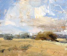 "Lincoln Field by Simon Addyman Oil ~ 10"" x 12"""