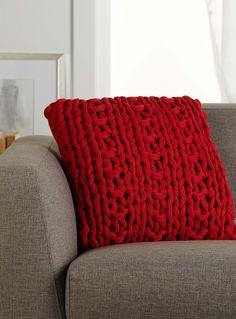 Chunky knit cushion 45 x 45cm   Simons