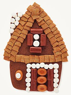 Grandma's Thatched-Roof Gingerbread House
