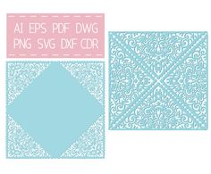 Laser cut SVG Wedding Invitation Card Template Quinceanera Invitation, silhouette cameo, cricut cutting file