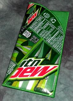 Reading Glass/Sunglass Case from Upcycled Mt Dew soda bottle labels by squigglechick, $22.00