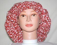 "24"" Red/White Butterflies (Locks) Bouffant Hat by duehringphotocc, $7.00"