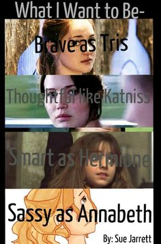 I love all these characters they are from all my fandoms.. But pls take out sassy ._. Annabeth can do better than that
