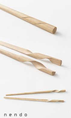Rassen chopsticks by N. Meister in collaboration with Hashik.- Rassen chopsticks by N. Meister in collaboration with Hashikura Matsukan for Nen… Rassen chopsticks by N. Meister in collaboration with Hashikura Matsukan for Nendo - Smart Design, Clever Design, Geek Gadgets, Cool Gadgets, Baby Gadgets, Design Creation, Intelligent Design, Cool Inventions, Chopsticks
