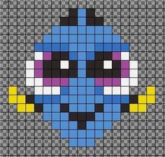 first pixel art bead pattern. Inspired by My first pixel art bead pattern. -My first pixel art bead pattern. Easy Perler Bead Patterns, Melty Bead Patterns, Perler Bead Templates, Diy Perler Beads, Perler Bead Art, Beading Patterns, Art Patterns, Pearler Beads, Modele Pixel Art