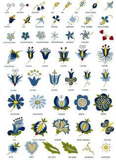 Wild Flowers Dzikie Kwiaty — Kashubian flowers with meanings embroidery...