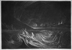 Satan on the Burning Lake. By John Martin, scene from Paradise Lost.
