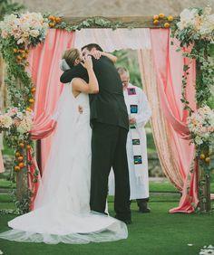 chuppah Wedding Inspiration - Style Me Pretty Mod Wedding, Dream Wedding, Wedding Day, Wedding Stuff, Wedding Prep, Garden Wedding Decorations, Ceremony Decorations, Wedding Altars, Wedding Ceremony