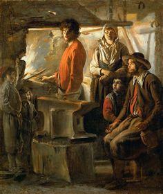 Le Nain Brothers - Blacksmith at His Forge [c.1640]   Flickr - Photo Sharing!