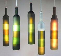 #repurpose wine bottle chandelier