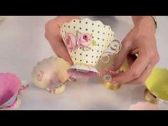 How to Use Sizzix Tea Cup Die 658351, demonstrated by Brenda Walton. So dainty! Imagine the pretty party or shower favors ~