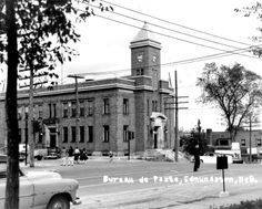 Edmundston Post Office - built circa 1940s. The picture is in the early 60's - a coupe of years later it was destroyed to make place for a Woolworth.
