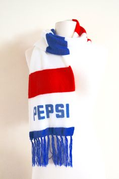 1970s Pepsi Cola Scarf, Retro Winter Gear, Red White and Blue, Collectors Item by JoyDestroyVintage on Etsy #pepsi #vintagepepsi #pepsicola #collectorsitem #vintagescarf #scarf #winterscarf # redwhiteandblue #hipster #retro #etsy