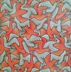 Symmetrie-tekening twaalf vogels 1948