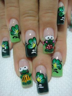 St Patricks Day, Nail Designs, Nail Art, Nails, Fingers, Makeup, Mary, Painting, Beauty