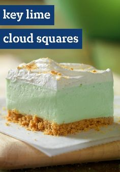 """Key Lime"" Cloud Squares"