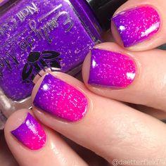 Girls Nail Designs, Purple Nail Designs, Short Nail Designs, Nail Polish Designs, Bright Nail Designs, Cute Summer Nail Designs, Pink Design, Beautiful Nail Designs, Nails Design