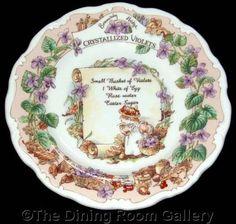FOR SALE Royal Doulton BRAMBLY HEDGE recipe CRYSTALLIZED VIOLETS barklem 8  PLATE 1st #followvintage