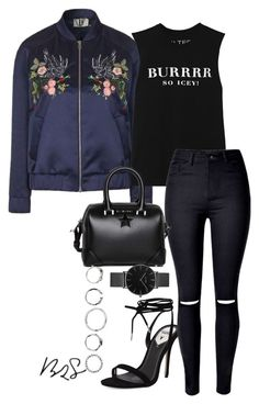 """""""#717"""" by blendingtwostyles ❤ liked on Polyvore featuring Topshop, Windsor Smith, Brian Lichtenberg, WithChic, Givenchy and CLUSE"""