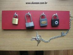 Montessori practical life activity - unlocking padlocks with keys. Ont -to-one correspondence for children and can be used in practical life. Motor Skills Activities, Montessori Activities, Fine Motor Skills, Learning Activities, Preschool Activities, Kids Learning, Elderly Activities, Physical Activities, Montessori Materials