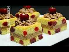 Prajitura cu cirese si crema cu cacao | Adygio Kitchen - YouTube Romanian Desserts, Waffles, Sweet Treats, Cheesecake, Deserts, Breakfast, Food, Youtube, Sweets