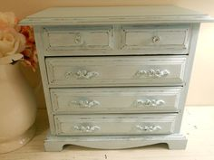 Beautiful Shabby Chic Jewelry Box by ShabbyChicyVintage on Etsy, $45.00