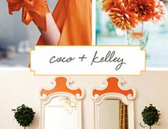 Love the blue, white, and orange accented together...perhaps a future guest room style?