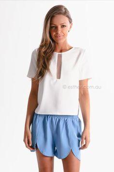dress it up shorts - blue sponsored by Esther.com.au