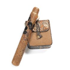 Bonhams : A rattan kiseruzutsu with tabako-ire The kiseruzutsu by Hosai, late entury Bond Street, Modern Traditional, Decoration, Japanese Art, Pipes, Rattan, Bucket Bag, Game, Crafts