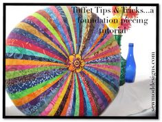 Tuffet tips & tricks Quilting Tips, Quilting Tutorials, Quilting Projects, Sewing Tutorials, Sewing Projects, Sewing Ideas, Diy Projects, Patchwork Quilting, Crazy Quilting