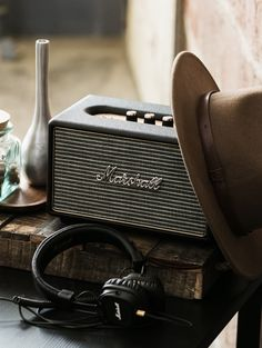 Bring the concert to your home with Marshall headphones and bluetooth speakers.
