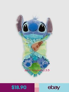Official Baby Stitch Plush Doll with Blanket Lilo & Stitch Soft Toy Gift Lilo Stitch, Cute Stitch, Lilo And Stitch Blanket, Disney Stitch, Disney Plush, Disney Toys, Cute Disney, Baby Disney, Disney Nursery
