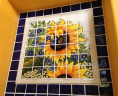 Mexican Style Mural - Girasoles