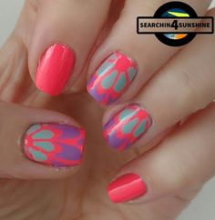 Searchin 4 Sunshine: [Nails] #nailsreloadedchallenge - dreifarbig & Lacke in Farbe ... und bunt! KORALLE mit models own NP128 Shades