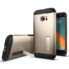 The Slim Armor™ case for HTC 10 offers comfort, durability and functionality! The case is made with a hard PC exterior and flexible TPU interior for ultimate protection. Its glossy design with smooth matte finish offers style and comfort. The built-in kickstand allows a hands free viewing on any flat surface!  Shop Now: http://www.spigen.com/products/htc-10-case-slim-armor?variant=17254793537
