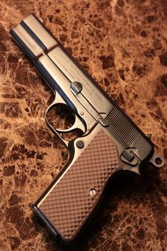 Browning 1944 Hi-Power pistol with VZ Grips