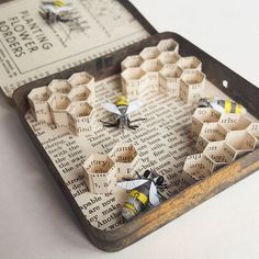 I Create Bugs, Butterflies, And Insects Using Recycled Paper, Wire And Thread…