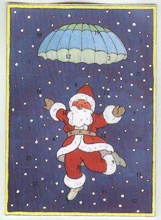 Weinachtskalender als Glückwunschkarte - neu Fallschirmspringer • EUR 4,50…