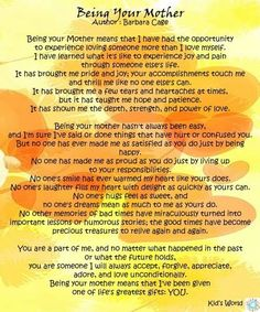 Need to print and frame this! Reminds me of my love for my mom and the special bond and love I share with Ava! ❤