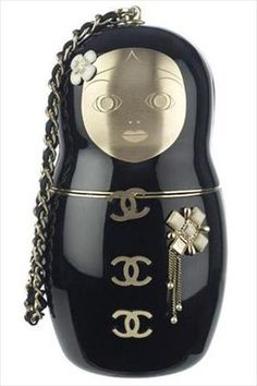 Chanel Russian doll clutch - always loved the Russian dolls, I'm part Russian, but the Chanel just adds the perfect touch to it! ♥