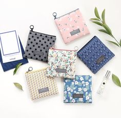 Iconic Comely pattern small flat zipper pouch by ICONIC. The Comely flat  pouch(S) is a well made and lovely pouch with beautiful patterns. a41242e72f97d
