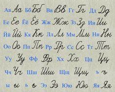Russian Print vs Russian cursive  Typing in print, handwriting in script
