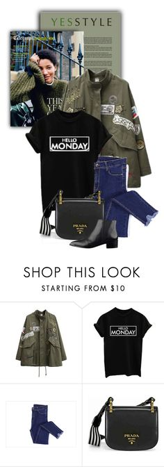 """""""YESSTYLE.com"""" by monmondefou ❤ liked on Polyvore featuring Prada, Winter and yesstyle"""