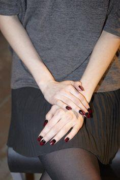 #Dark #Nails #Manicure #Model #Red #Style #Fashion #BiographyInspiration