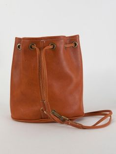do it like this for my round bag!! Leather Drawstring Backpack