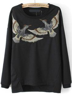 Dip+Hem+Split+Bird+Embroidered+Sweatshirt+17.96